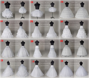 2020 Nouveau 10 White Style Une ligne robe de bal de mariée sirène de bal de mariée Jupon Jupon Crinoline Accessoires de mariage Robes de mariée collectrices