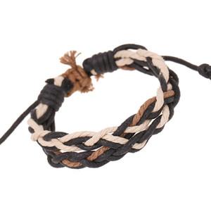 Ajustável novos produtos mulheres pulseira de trança de jóias de natal unisex punho cuff de couro