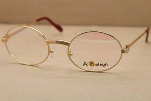 vente en gros Grandes 1188008 Lunettes métal exquis hommes et femmes lunettes Taille: structure en métal or argent 55-22-135mm lunettes lunettes