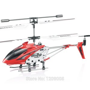 Atacado-Novo Syma 107G Série Metal W / GYRO Alumínio Fuselagem 3Ch Mini Infravermelho RC Helicóptero S107 Controle Remoto RTF