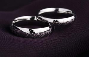 Retro O Senhor dos Anéis Soild 925 Sterling Silver Magical Amor Anel De Casamento presente