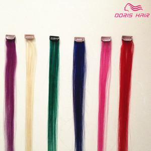 colorized hair 5 색 5pcs 헤어 클립을 인간의 머리카락 확장에 붙임 머리 클립에 브라질 클립 빨간색 분홍빛 자주색 푸른 녹색