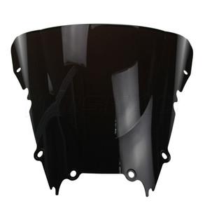 Pare-brise de pare-brise de bulle de moto double pour 1998-2002 Yamaha YZF 600 R6 98 99 00 01 02 1999 2000 2001 noir