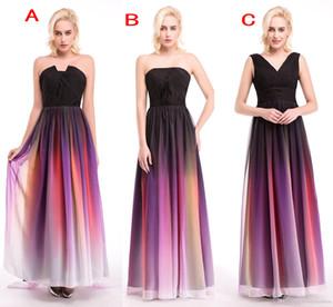 Elie Saab Ombre Strapless Vestidos De Baile Novo 3 Estilos De Plissados Vestidos De Noite De Chiffon Vestido Formal Para Barato 2019 Dama De Honra Ocasião Vestido