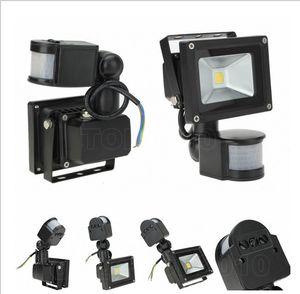 Горячая продажа 10 Вт светодиодный прожектор PIR Motion Sensor AC85-265 В светодиодные лампы водонепроницаемый наружного освещения светодиодные прожекторы