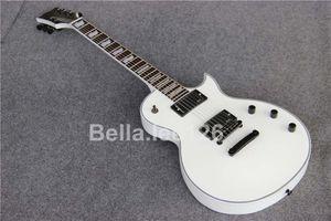 Бесплатная доставка пользовательские 6 строка гитара электрическая с 24 Лады, пассивные пикапы, белый цвет электрогитары