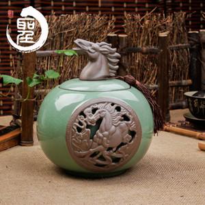 Dehua porcelain Kung Fu Tea Caddy Ge caddy sealed cans upscale gift ideas