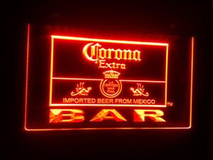 B-44 Corona Extra пивной бар паб клуб логотип 7 цвет LED неоновый свет знак