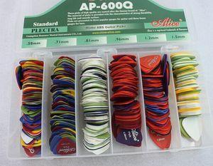 600pcs / BOX Алиса AP-600P Smooth АБС медиаторы плектров с корпусом 0,58 0,71 0,81 0,96 1,2 1,5 мм смешанных плектров