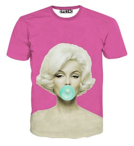 FG1509 2015 Nova moda sexy mulheres 3D t camisa impressa marilyn monroe camisas verão harajuku camiseta feminina camisetas tops roupas