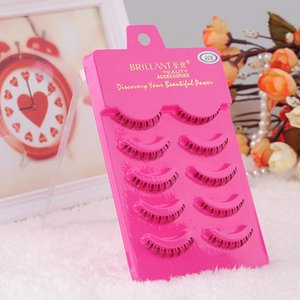 Wholesale-5 Pairs Natural Handmade Under Lashes False Eyelashes Lower Bottom Eye Lashes Free Shipping & Drop Shipping