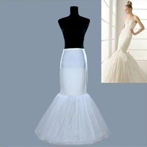 Günstige Sexy Meerjungfrau 2T Petticoats Für Brautkleider One Hoop Zwei Tiers Unterrock Spalte Braut Slips Kleid Krinoline