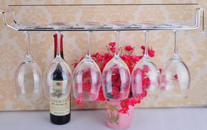 Edelstahl Weinglas-Wand-Rack-Halter-Aufhänger Bar Werkzeuge Glasböden silber 50-55cm lange 1-3 Reihenständer für Weinschrank Schraube hängen