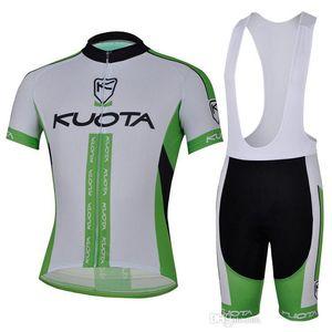 kits de cyclisme KUOTA équipe de couleur verte pour les hommes de vélo chemise + cuissards de bonne qualité les hommes portent la vente chaude