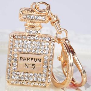 1 Stück Weiß / Rosa Strass Kristall Parfümflasche Schlüsselanhänger Schlüsselanhänger Handtasche Tasche Für Mädchen Handtasche Charme Anhänger Schlüsselanhänger Geschenke