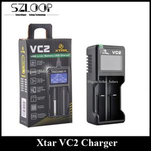 Carregador de Bateria Original Xtar VC2 Inteligente Mod Carregador Dual Slot com Display LCD para 18350 18550 18650 16650 Li-ion Baterias Ni-MH batt