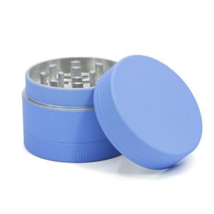 Hot New Style 3 Camadas 40mm liga de alumínio Herb Grinder Multi Cores revestido com silicone de Metal Grinder