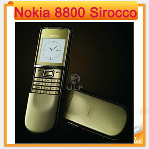 2016 Fast Freeshipping to Russia Débloqué Original 8800 Sirocco Or couleur 128MB Nokia 8800s remis à neuf Téléphone Mobile clavier russe