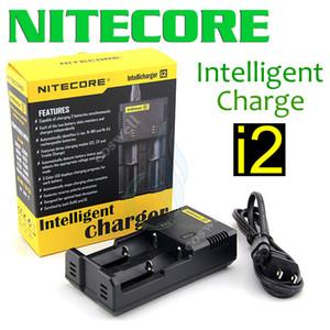 Nitecore I2 универсальный интеллектуальное зарядное устройство для 18350 18450 18650 14500 26650 модов батареи США Великобритания ЕС AU PLUG mod зарядные устройства DHL бесплатная доставка