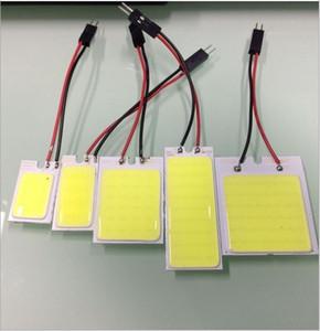 100 шт. / лот LED COB автомобилей свет светодиодные панели чтения освещение авто купол лампы лампы T10 BA9S багажник свет