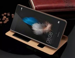 Новое Прибытие Для Huawei P8 Lite Case Подлинная Окно Откидная Крышка Роскошные Красочные Тонкий Кожаный Чехол Для Huawei Ascend P8 Lite P8 Mini