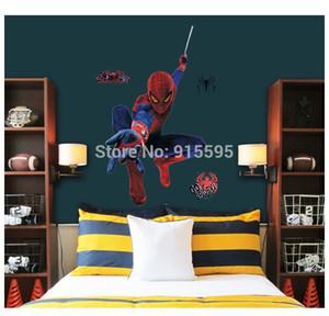 Freies Verschiffen: Arbeiten Sie große Kunst-Wandabziehbilder Spiderman 3D / entfernbares PVC-Wandaufkleber Wandgemälde für Raum-Dekor 90 * 110cm der Jungen um