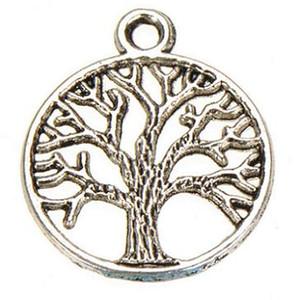charmes d'arbres métalliques plantes en bronze argent or cru vie d'un arbre nouveaux accessoires bijoux de mode fournisseurs pour les bijoux diy 24 * 20 mm 150pcs
