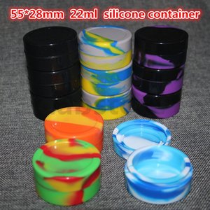 silicone wax oil container 22ml 55*28mm containers concentrate wax containers silicone jars wax wholesale free shipping DHL