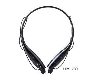 HBS730 HBS 730 Auricular Bluetooth Auricular inalámbrico CSR4.0 Deportes banda para el cuello manos libres para teléfono inteligente para teléfono 30 unids / lote