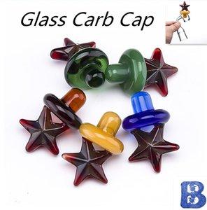 Cupola per tappo a cupola UFO in vetro stile Cap Carb di vetro per 4mm Quartz Banger, Bangers termici, tubi di vetro, impianti di olio dab