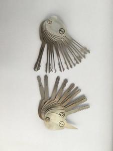 2015 새로운 21pcs 자동 양면 자물쇠를위한 자동적 인 Jigglers 열쇠는 열쇠의 세트를 고른다 자물쇠 Opener Lockpick는 자물쇠 제조공 공구를 놓는다