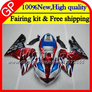 Bodys Blue For Triumph Daytona 600 03 05 650 03 04 05 Daytona600 6GP9 Daytona650 Daytona rojo oscuro 650 600 2003 2004 2005 Motorcycle Carenado