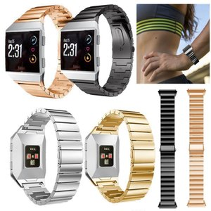 2017 Luxury Watchbands 130-210mm de Acero Inoxidable Sólido Accesorio Reloj Band Band Bandas de Metal Para Fitbit Ionic 4 Color DHL Libre
