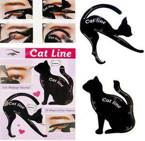 가장 인기있는 Easy Eye Shadow Eyeliner 메이크업 도구 Cat Eyeliner 스텐실 키트 메이크업 카드 템플릿