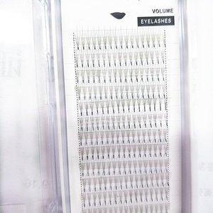 Один кластер 3D предварительно привитые посадки норки волос накладные ресницы одного корня прививки отдельных норки накладные ресницы