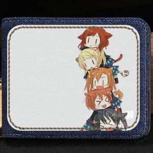 Love live wallet School idol project anime purse Cartoon short cash note case Money notecase Leather burse bag Card holders