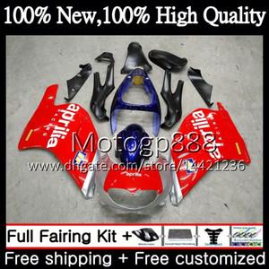Kaporta Aprilia RS-250 Için Kırmızı mavi RSV250 RS250 95 96 97 vücut 5PG RS250R 95-97 RSV 250 RR Gümüş RS 250 1995 1996 1997 Kaporta
