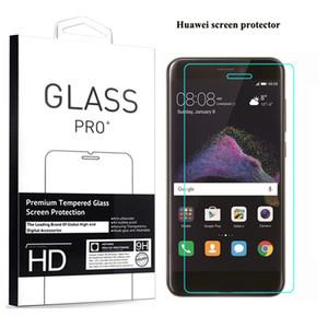 Para huawei p8 lite 2017 p9 p10 plus honor 8 9 6x tela de vidro protetor de tela sentimento confortável mão embalagem de varejo
