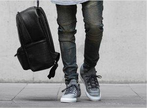 jeans déchirés pour hommes skinny Distressed slim marque célèbre designer motard hip hop swag tyga blanc noir jeans kanye west