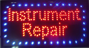"Grande 21,5x13 ""Bright LED strumento riparazione Neon Sign Guitar Drums Fix Shop aperto"
