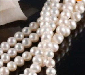 7-8MM Akoya White Freshwater Cultured Pearl Loose Beads 15
