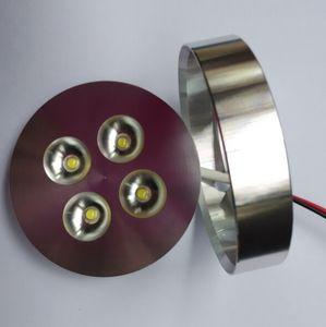 30PCS Regulável 4x1W alumínio LED Light Gabinete luz disco levou para baixo de chips CREE luz + Driver de 3 anos de garantia