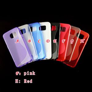 Casi S dell'onda Riga TPU per Iphone X XS 8 7 6 6S Inoltre antiscivolo gel del silicone di cristallo della gelatina di gomma del telefono della pelle copertura di moda di lusso