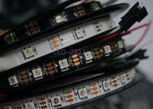 Оптовая торговля-Бесплатная доставка 5 м IP30 30/60 светодиодов / м WS2812B 5050 SMD WS2812 IC Smart led pixel strip DC5V non-waterproof