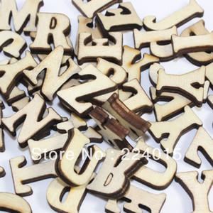All'ingrosso-Freeshipping misto 300pcs legno originale di colore naturale Cabochon in legno alfabeto lettera Bead per il regalo di Natale per bambini