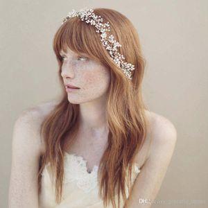 2015 Headmade Headwear Bijoux Bidial Crystal Accessoires pour Clips De Cheveux De Mariage En Argent Bandeau Coiffe Coiffeuse de vigne Coiffure