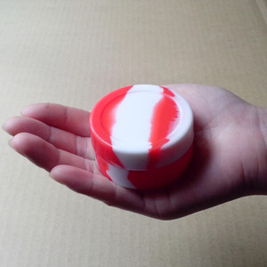 Contenitore antiaderente del silicone dell'olio del vaporizzatore della cera di DAB della cera di forma rotonda 22ML 55mmX28mm di forma rotonda del bastone in magazzino Trasporto libero di riserva