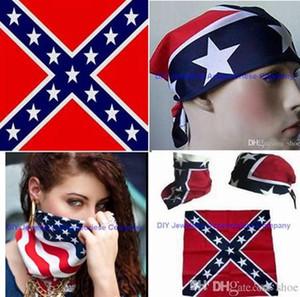 54*54 см 100% хлопок Конфедерации оголовье флаг хип-хоп банданы гражданской войны битва бандана головной убор гражданской войны флаг открытый платок