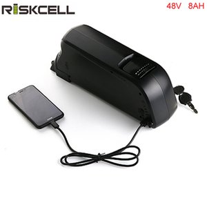 Бесплатная доставка и таможенный налог вниз трубки литиевая батарея 48 В 8ah электронный велосипед батареи с BMS и USB-порт.