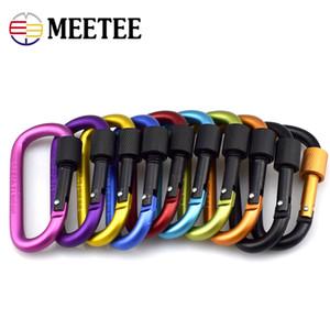 Meetee D-Ring-Schnalle Schlüsselanhänger Clip Haken Outdoor Equipment Aluminiumlegierung Bergseil Verschluss Schnallen Gepäck Zubehör